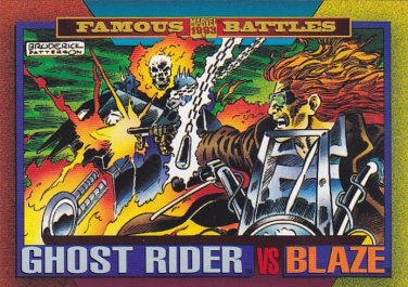 Ghost Rider vs Blaze - 1993 Marvel Comic Trading Card #172