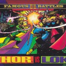 Thor vs Loki - 1993 Marvel Comic Trading Card #150