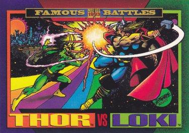 Thor vs Loki - 1993 Marvel Comic Trading Card #150