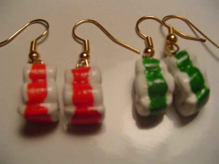 Ribbon Candy Earrings