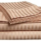 400TC BEIGE  STRIPE QUEEN SHEET SET – 100% EGYPTIAN COTTON