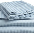 400TC BLUE  STRIPE QUEEN SHEET SET – 100% EGYPTIAN COTTON