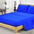 400TC EGYPTION BLUE QUEEN SOLID  SHEET SET – 100% EGYPTIAN COTTON