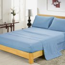 400TC BLUE  QUEEN SOLID  SHEET SET – 100% EGYPTIAN COTTON