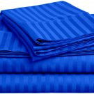 600TC EGYPTION BLUE STRIPE QUEEN SHEET SET – 100% EGYPTIAN COTTON