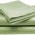 600TC SAGE STRIPE QUEEN SHEET SET – 100% EGYPTIAN COTTON