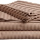 600TC TAUPE STRIPE QUEEN SHEET SET – 100% EGYPTIAN COTTON