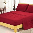 600TC BURGUNDY SOLID QUEEN SHEET SET – 100% EGYPTIAN COTTON