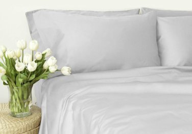 500TC WHITE SOLID QUEEN SHEET SET � 100% EGYPTIAN COTTON