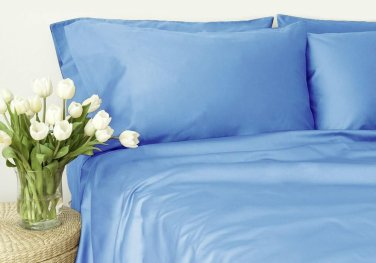 400TC BLUE SOLID  KING SHEET SET � 100% EGYPTIAN COTTON