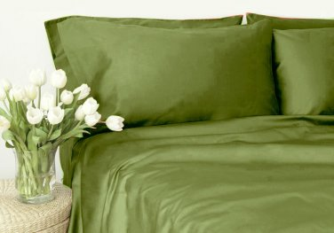 400TC MOSS SOLID  KING SHEET SET � 100% EGYPTIAN COTTON
