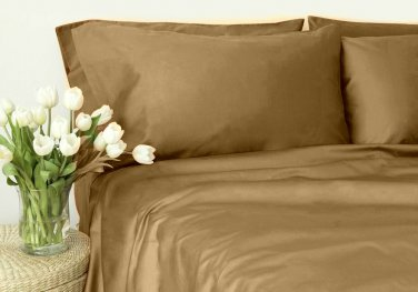 400TC TAUPE SOLID  KING SHEET SET � 100% EGYPTIAN COTTONTAUPE