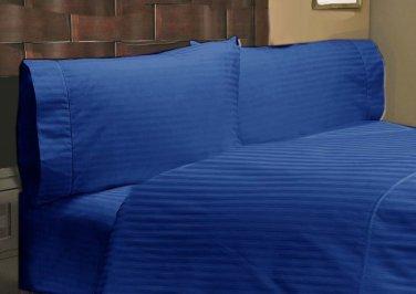 1000TC STRIPE EGYPTIAN BLUE DUVET SET IN QUEEN SIZE - 100% EGYPTIAN COTTON