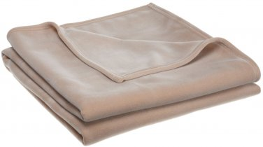 VELLUX BLANKETS BY WEST POINT STEVENS TAN COLOR IN QUEEN SIZE
