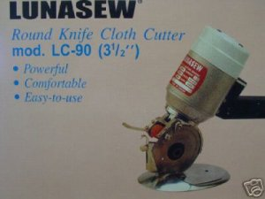 """ELECTRIC FABRIC CUTTER 3 1/2"""" ROUND KNIFE 110 V."""