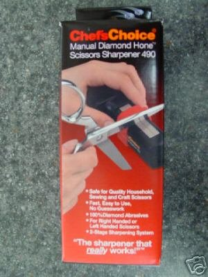 DIAMOND HONE MANUAL SCISSOR SHARPENER