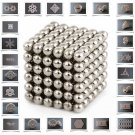 3mm 216 Buckyballs Neocube Magnet Toy 216pcs Set (Silver)