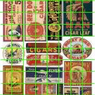 Set #001 AD SET GHOST SIGNS 1 Cigars Cigarette Tobacco Ad Sign Decals