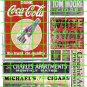 1001 - AD SET GHOST SIGNS 2Coke Coffee Tobacco Ad Ghost Decals