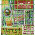 1002 - AD SET 3 Gulf Coke Tobacco Druggist Ghost Ad Decals