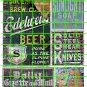 1015 - Advertising Decal Set 6 GHOST SIGN GAZETTE MAIL SOAP KNIVES BEER 7 UP