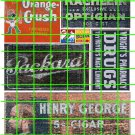 1021 - Advertising Decal Set 20 GHOST SIGN CRUSH DRUGS PARKARD CIGARS