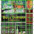1008 - Advertising Decals Set 21 GHOST SIGN BULL DURHAM  COKE COLA 7 UP CHERO COLA