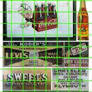 1040 - Advertising Decals Set 29 GHOST SIGNS RC COLA COKE COLA LEVIS SWEETS