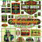 4002 - Harley Set 1 HARLEY DAVIDSON MOTORCYCLE SIGNS