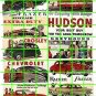 067 - Auto Ad Set 1 HUDSON FORD DODGE CHEVY BILLBOARD SIGNS