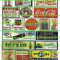 072 Assorted Ad Set COKE SODAS GAS OIL 7UP AD SIGNS