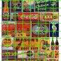 076 - Assorted Ad Set 39 SODA COKE DAD'S ROOT BEER MASONS  R-LA AD SIGNS
