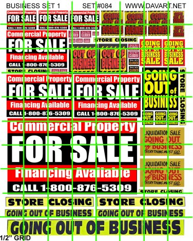 9004 - Business Set 1 FOR SALE GOING OUT OF BUSINESS STORE CLOSING