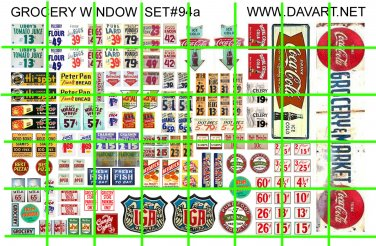 5018 GROCERY WINDOW PRICE SIGN Half Sheet