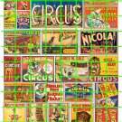 3000 - CIRCUS SET 1 Vintage Circus Advertising Clowns Animals