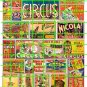 3000 - CIRCUS SET 1 Vintage Circus Advertising Clowns Animals