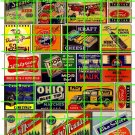 112 - VINTAGE BEER AIRCRAFT HOTEL LANDRY MATCHES TRACTORS 30's 40's