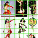 6017 - LG BETTIE PAGE PIN UPS ART GARAGE DIORAMA BURLESQUE