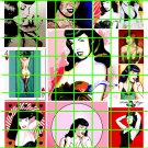 6018 - LG BETTIE PAGE PIN UPS ART GARAGE BURLESQUE