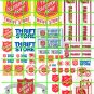 7004 - Salvation Army Thrift Store Building Signage Set