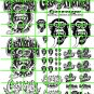 7017 - MONKEY GARAGE LOGOS SIGN SET CLEAR DECAL PAPER