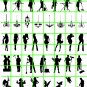 8006 - WINDOW SILHOUETTES ON CLEAR DECAL FILM HO SCALE
