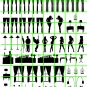 8007 - WINDOW SILHOUETTES ON CLEAR DECAL FILM FOR HO SCALE