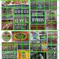 N003 - N SCALE DECAL SET GHOST ADVERTISING PEPSI COLA HOTEL TOBACCO CIGARS