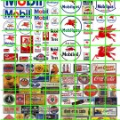 N020 - N SCALE DECALS ASSORTED MOBIL GAS/OIL AND OTHER BRANDS AUTO SIGNAGE