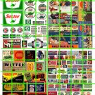 N021 - N SCALE DECALS ASSORTED SINCLAIR GAS/OIL AND OTHER BRANDS AUTO SIGNAGE