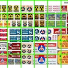 045A - Fallout Shelter Cold War Civil Defense Signage