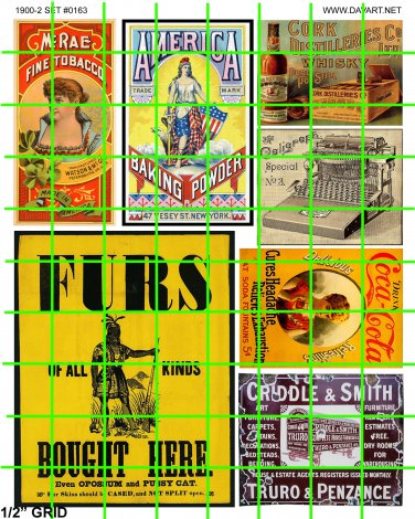 5084 - Late Steam Era 1890's to 1930's assorted signage and advertising FURS