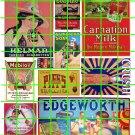 5037 - 1900's to 1930's  Steam Era asst'd signs tobacco, carnation milk, Orange Crush, Mobiloil
