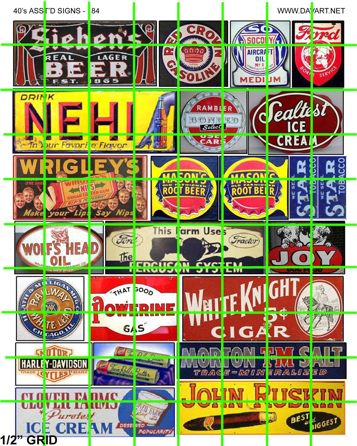 5062 - Assorted Older Advertising Signage Mid Century